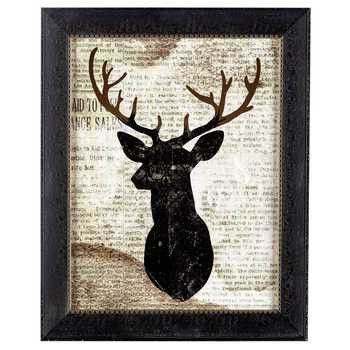 Deer On Newspaper Framed Wall Art Framed Wall Art Newspaper Frame Art Hobbies