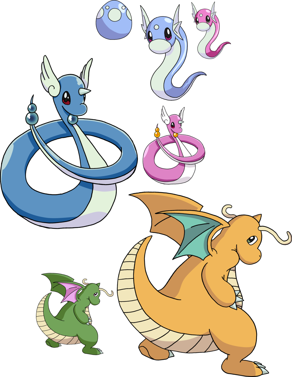 147 148 And 149 Dratini Evolutionary Line By Tails19950 On Deviantart
