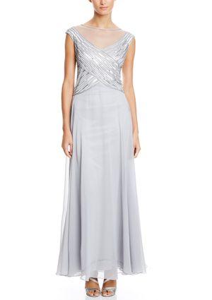 On ideel: J KARA Sheer Illusion Beaded Bodice Gown