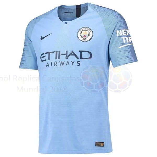 Venta Camisetas Casa Camiseta Manchester City 2018 2019 Azul €15.50 ... 9351ae9f00935