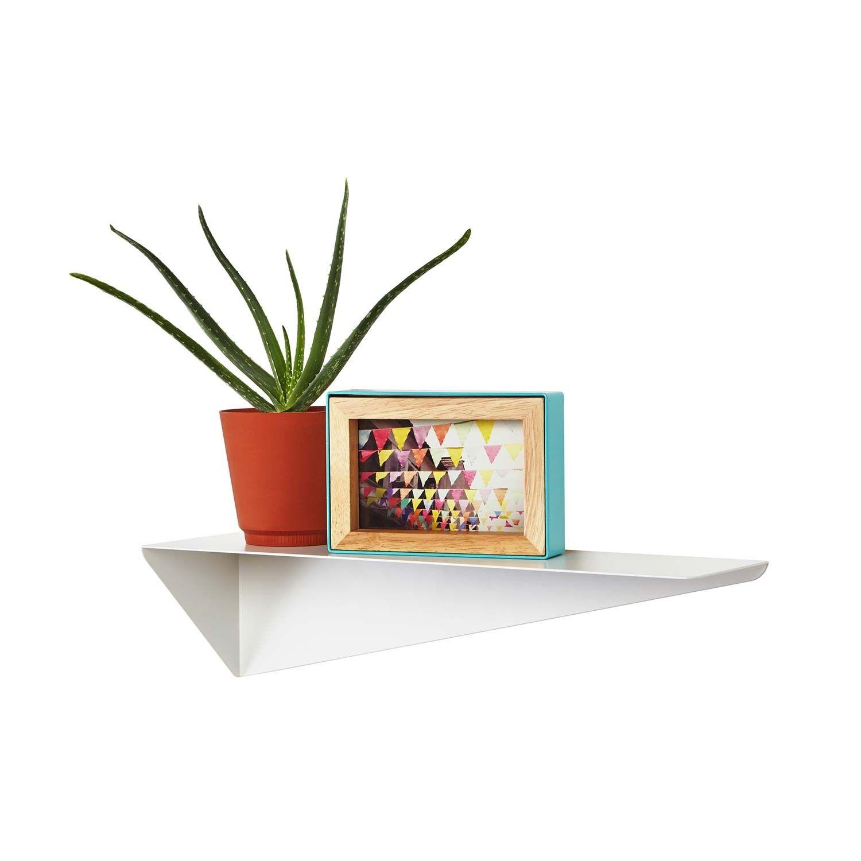 Stealth Shelf White Shelves Geometric Shelves Modern Shelving