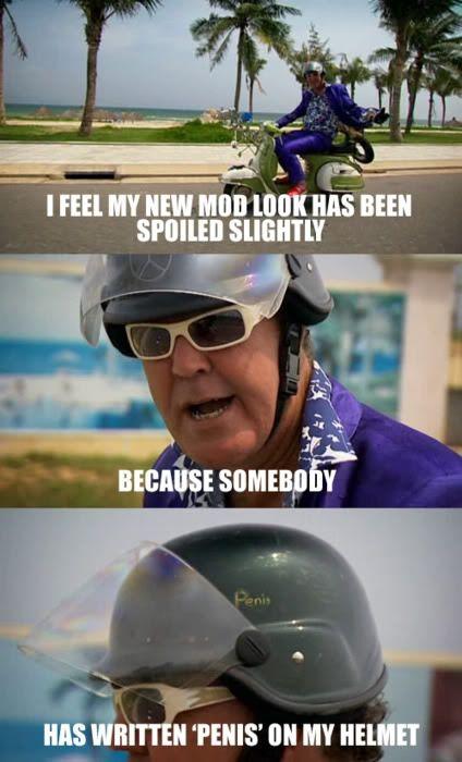 Top Gear Uk Vietnam Special Jeremy S Helmet Top Gear Funny