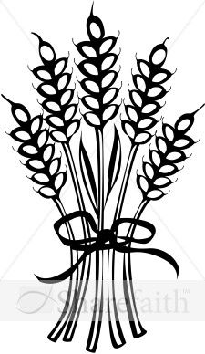 Wheat Tied With Ribbon Thanksgiving Clipart Thanksgiving Drawings Fall Embroidery Designs Clip Art