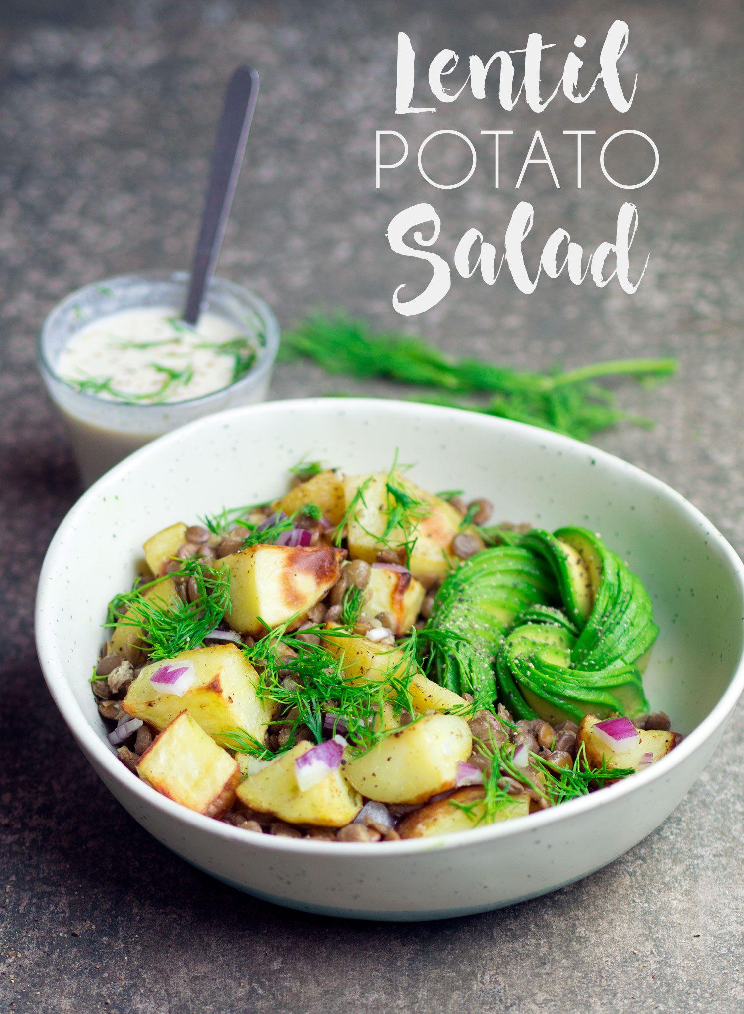 Green Lentil Potato Salad