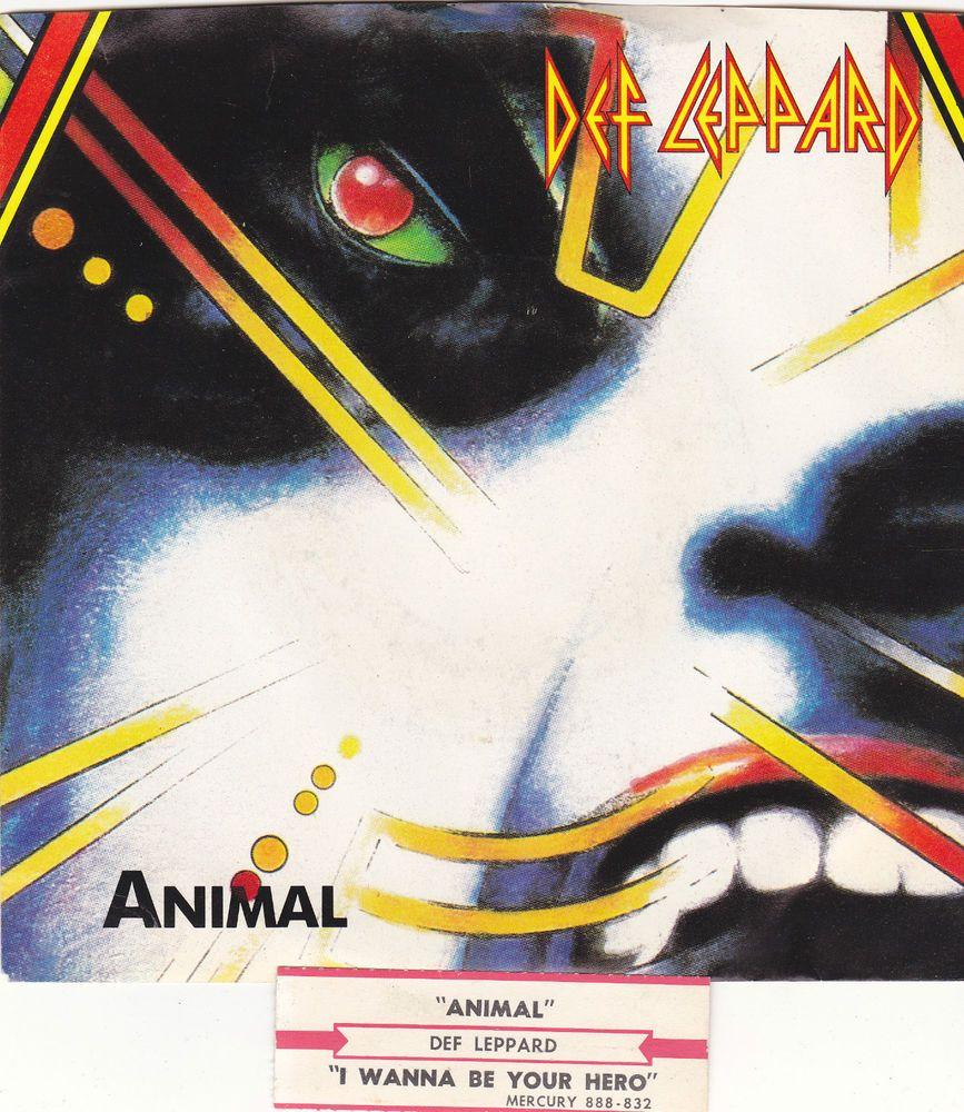 Def Leppard Animal I Wanna Be Your Hero 7 Vinyl 45 Rpm Record Jukebox Strip Defleppard Hardrock M Def Leppard Animal Def Leppard Poster Def Leppard