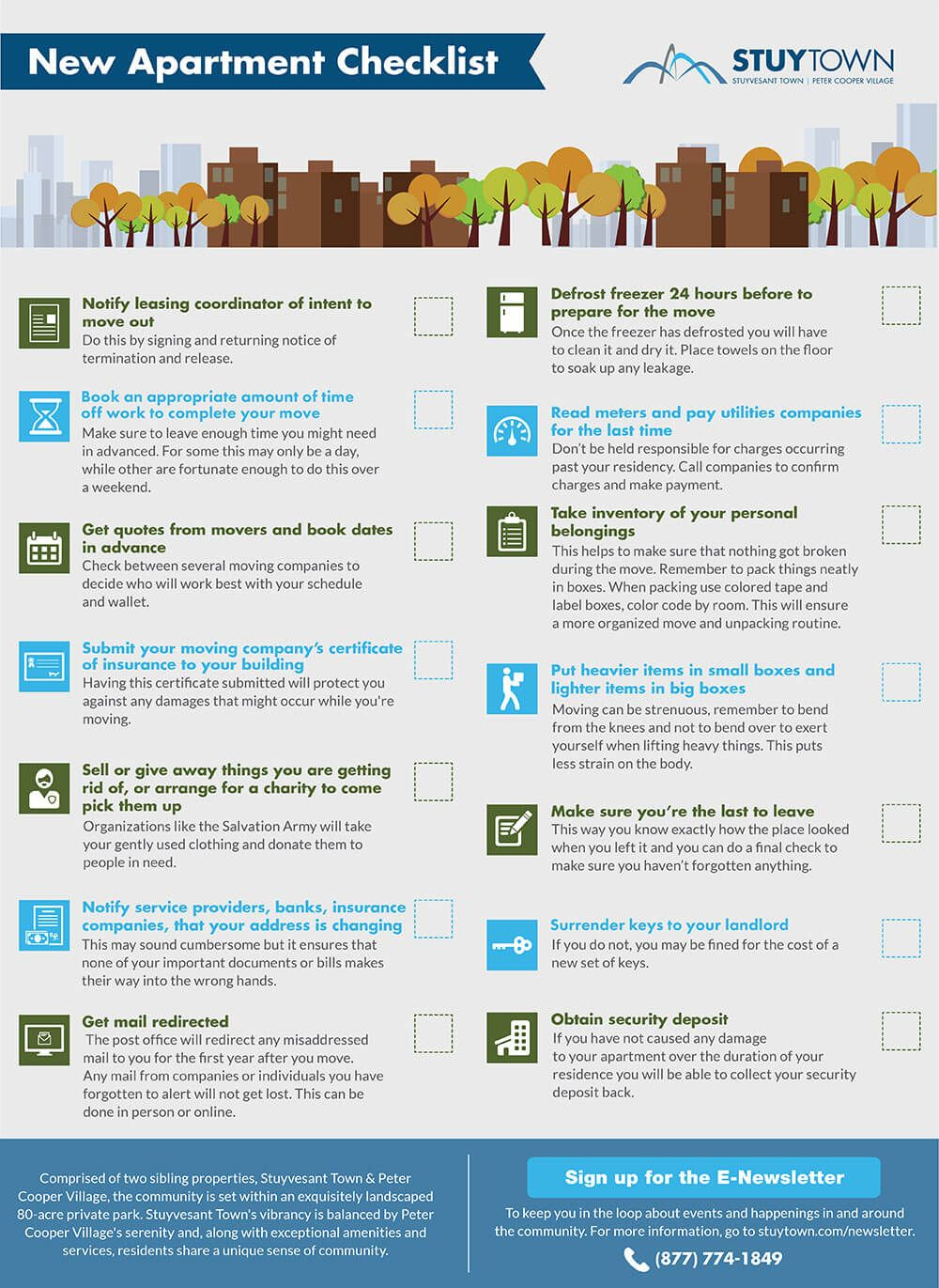 New Apartment Moving Checklist Infographic  Wwa