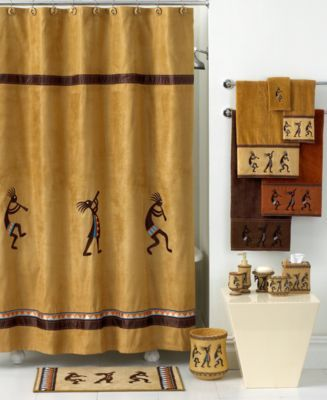 Avanti Bath Accessories Kokopelli Shower Curtain Unique Shower Curtain Shower Accessories Shower Curtain
