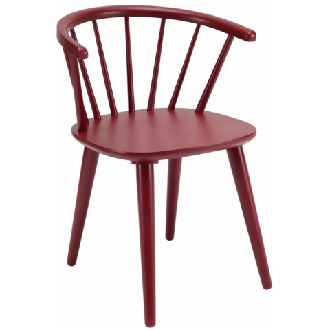2 X Caley Dining Chairs In Lacquered Maroon Dining Chair Set