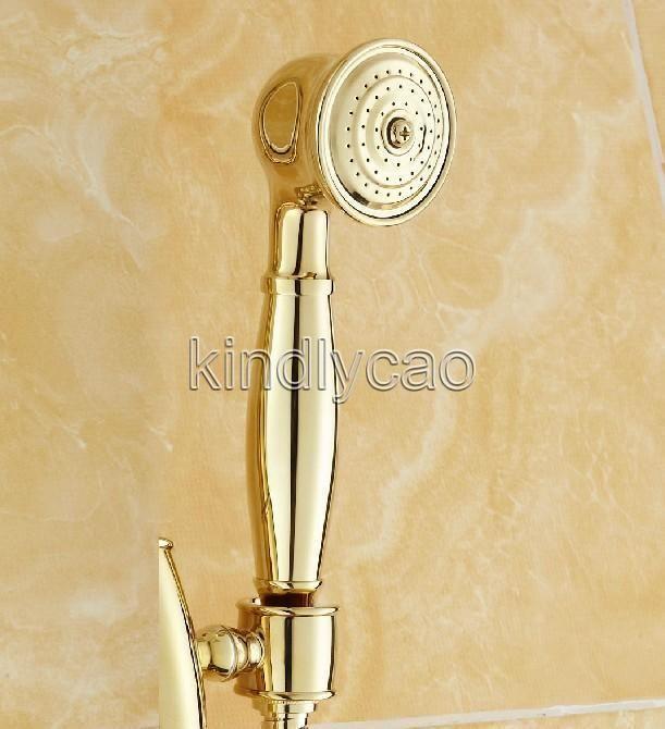 Luxury Gold Color Brass Telephone Style Bathroom Hand Held Shower Head Khh013 Dll Handheld Shower Head Shower Head Accessories Shower Heads