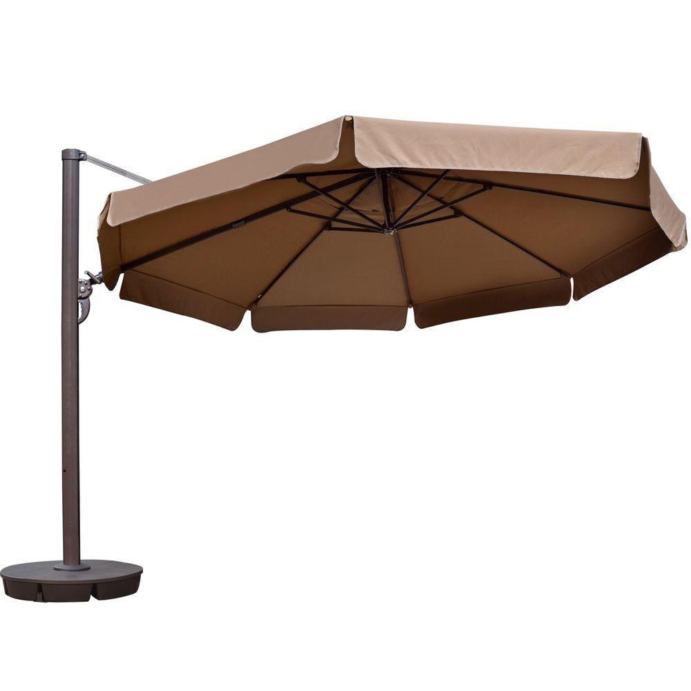 Island Umbrella Victoria 13 Ft Octagonal Cantilever With Valance