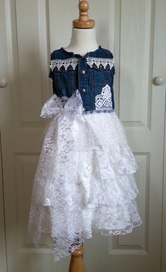 country flower girl dress girls shabby chic cowgirl dress rustic rh pinterest com