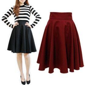 Gmarket - [더훈녀] High waist skirts / flared / A-line / casual ...