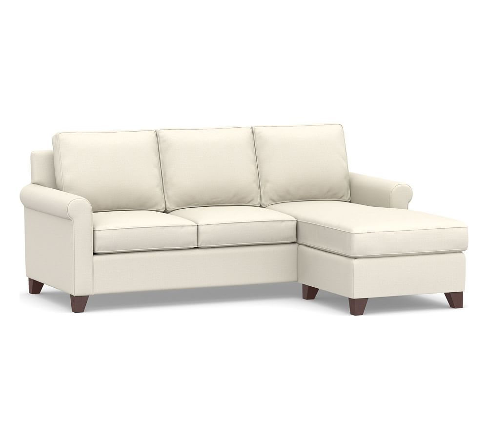 Cameron Roll Arm Upholstered Sofa With Reversible Chaise Sectional Sofas Living Room Furniture Pottery Barn Sleeper Sofa Upholstered Sofa Sofa