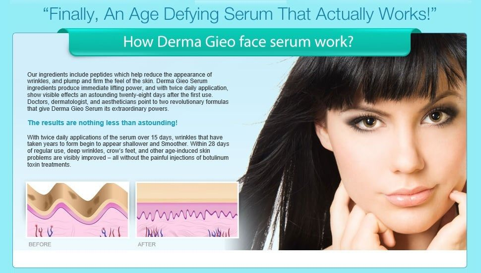 DermaGIEO anti aging serum is now available for free trial