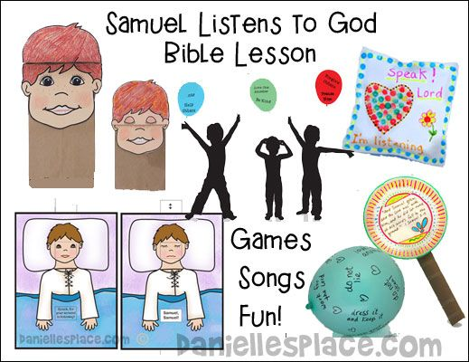 Samuel Listens to God Bible Lesson for Children - available as an ...