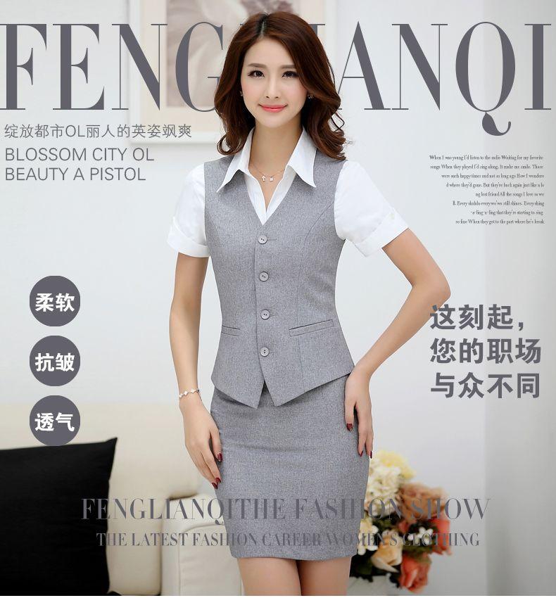945fff3a1 2016 nueva moda mujeres del desgaste del trabajo de ropa chaleco ...