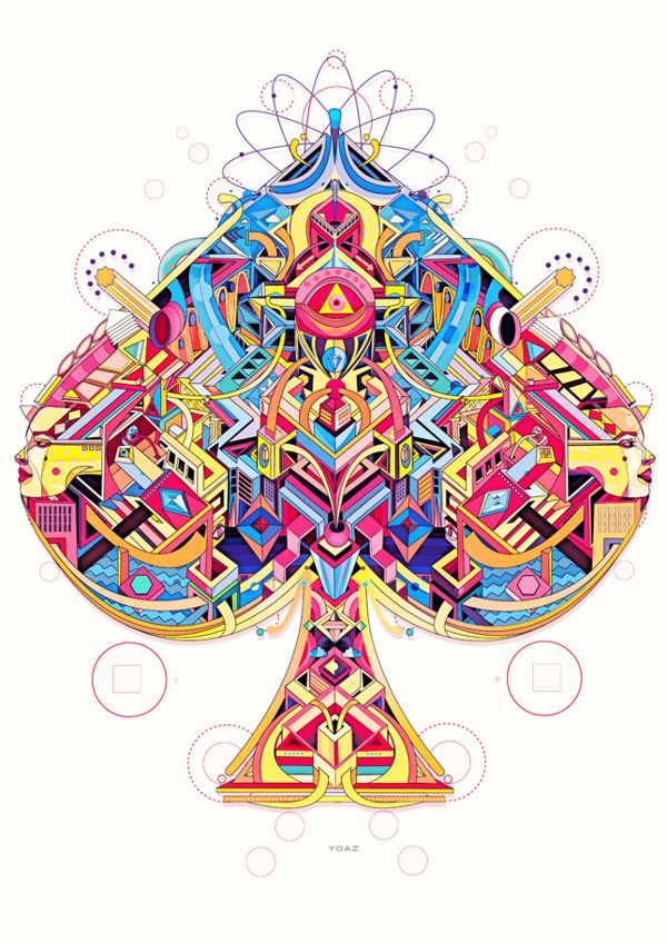 Another really intricate geometric design, I love all the little details and the way the shapes interact with each other.