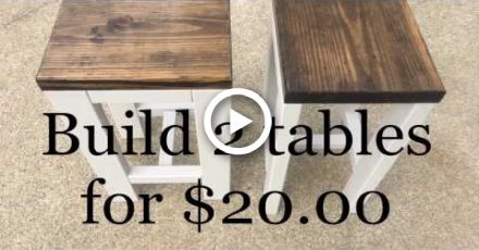 Photo of DIY | How to make 2 tables for $20.00 | Living room end tables
