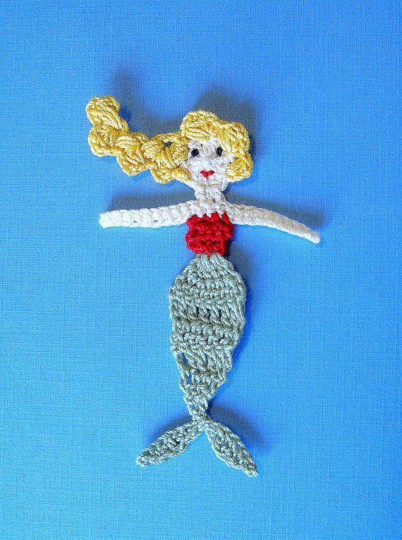 Crochet Mermaid Applique
