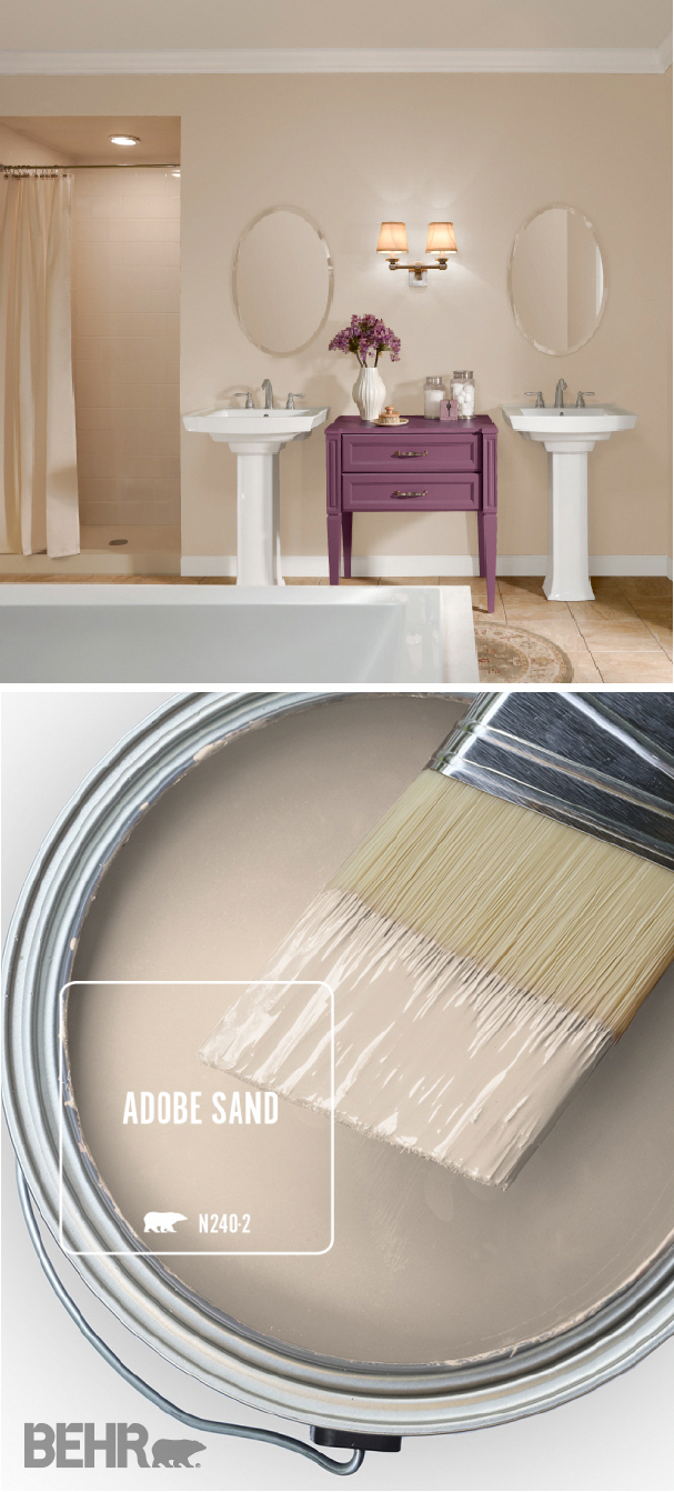 The BEHR® Paint Color of the Month is Adobe Sand. A light shade of