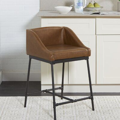 Williston Forge Seidel Bar Counter Stool Colour Light Brown