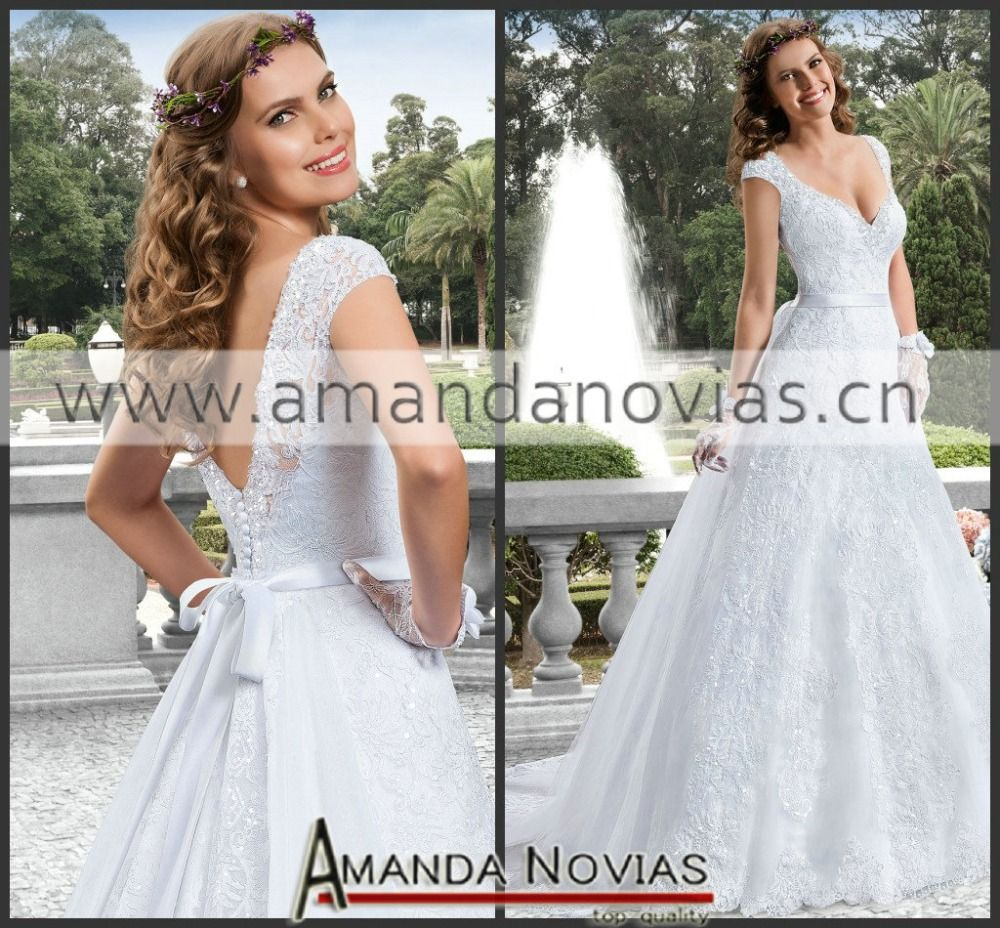Wedding dress with removable train  Find More Wedding Dresses Information about  New fashion cap