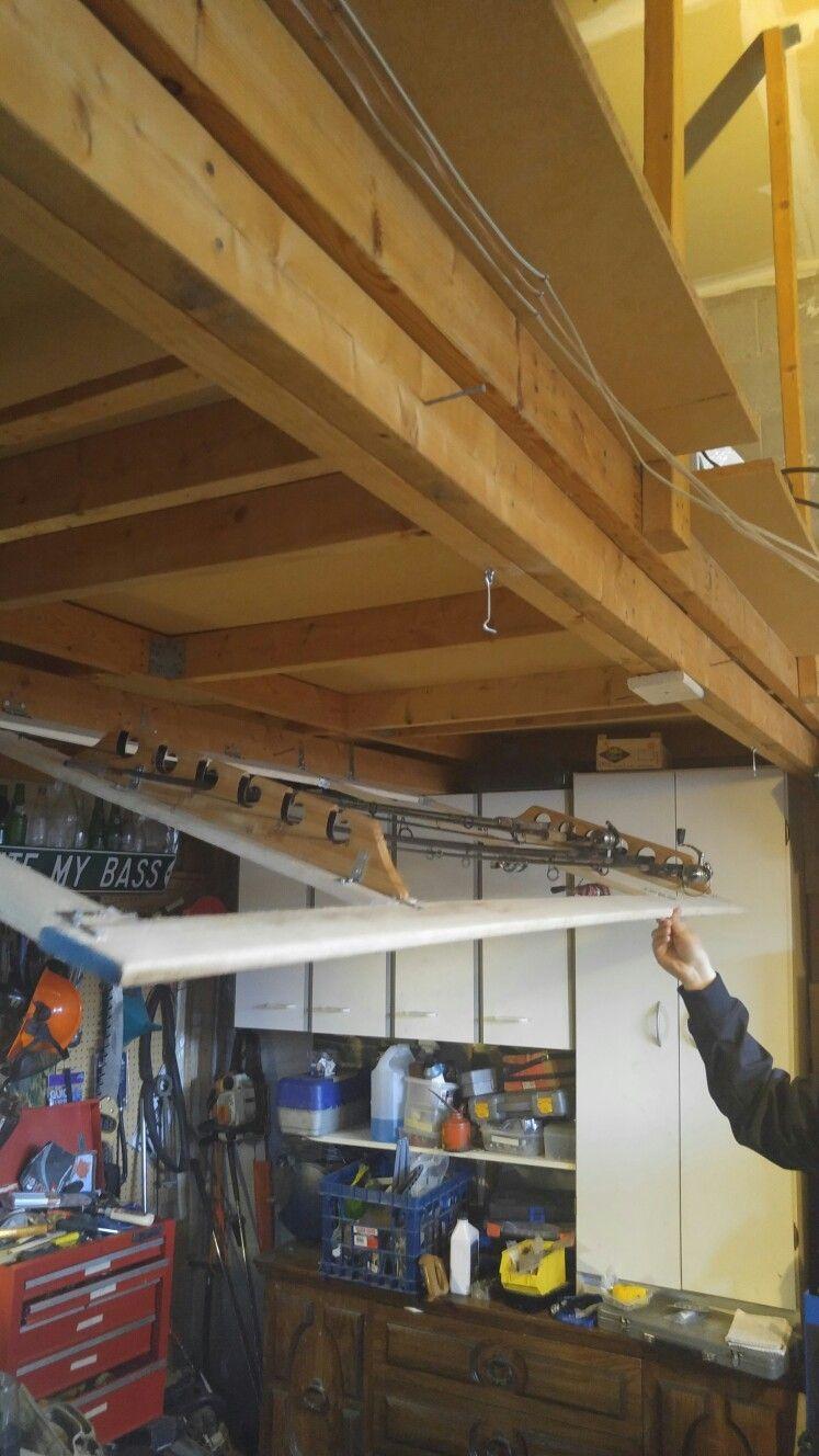 Fishing Rod Storage In Garage Ceiling Fishing Rod Storage Diy Fishing Rod Holder Fishing Tackle Storage