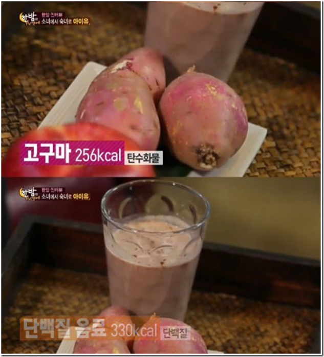 sweet potato and protein shake diet