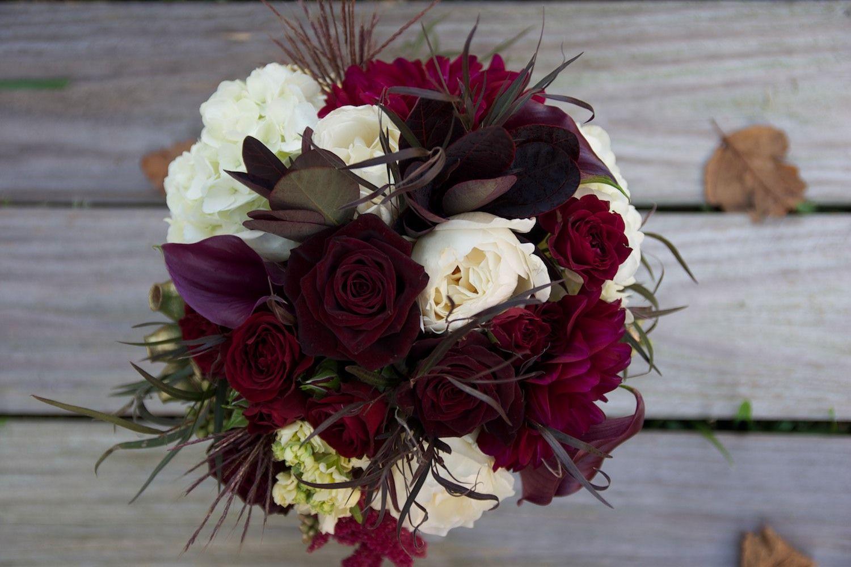 Wedding Bridesmaid Bouquet // Merlot // Burgundy // Wine