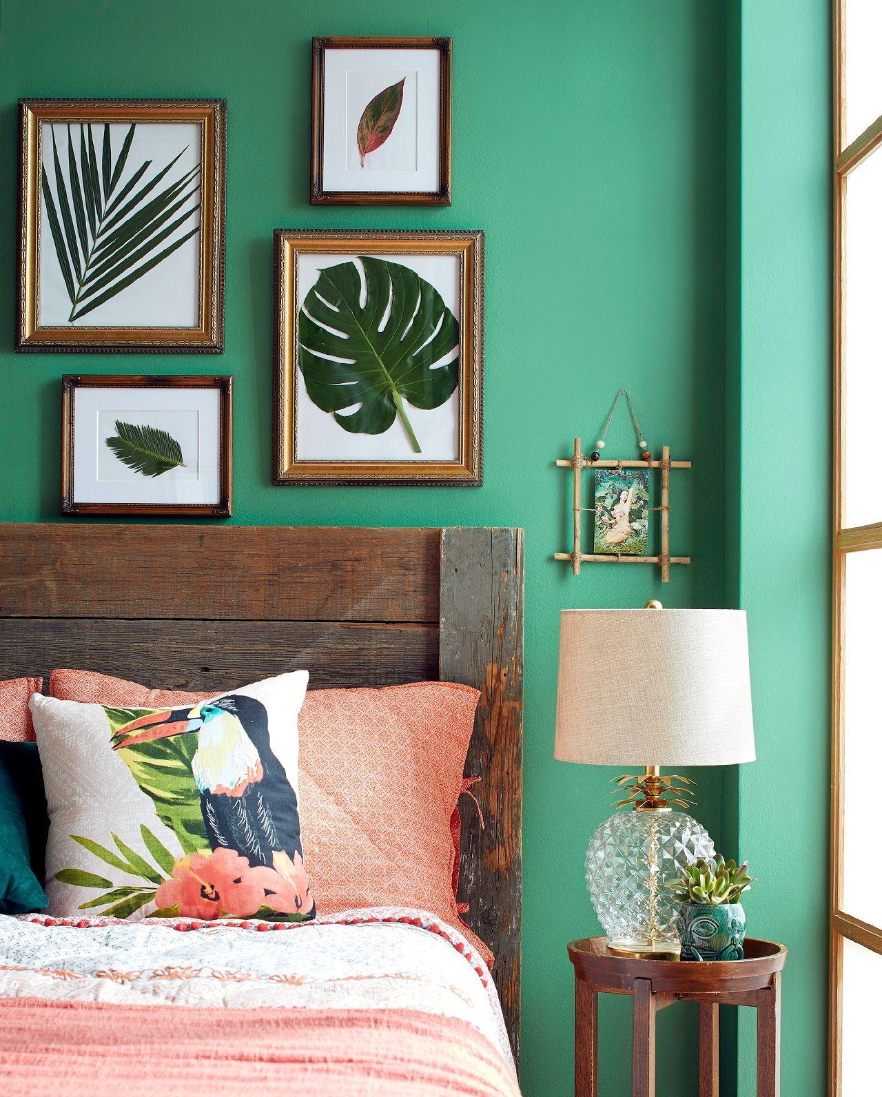 Frame Your Favorite Botanicals In 3 Easy Steps Green Bedroom