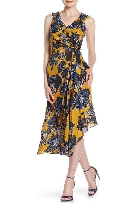Parker | Sleeveless Floral Print Midi Dress #nordstromrack