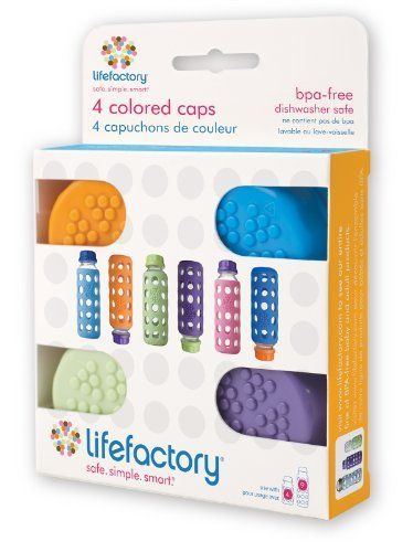Lifefactory 9 Ounce Glass Beverage Bottle Colored Caps Set Of 4 By Lifefactory Http Www Amazon Com Dp B004hw8 Baby Bottles Glass Baby Bottles Baby Boutique
