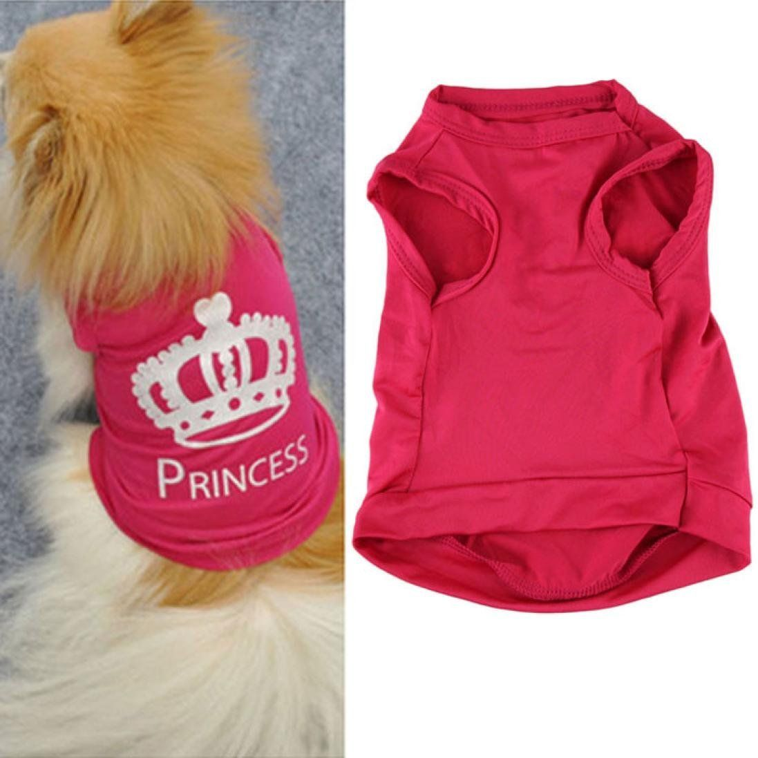 Perman fashion small pet dog cat cute princess tshirt clothes