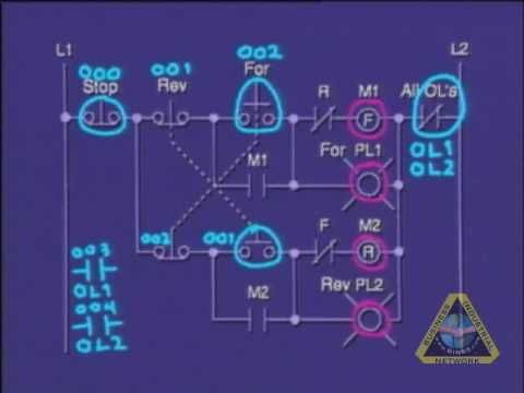 Plc tutorial plc program of motor control circuit plc for Motor control wiring training
