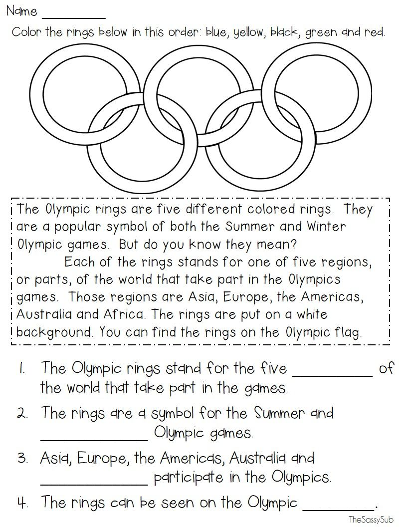 Summer Olympics: Rio 2016 {Resources and No Prep Activities}