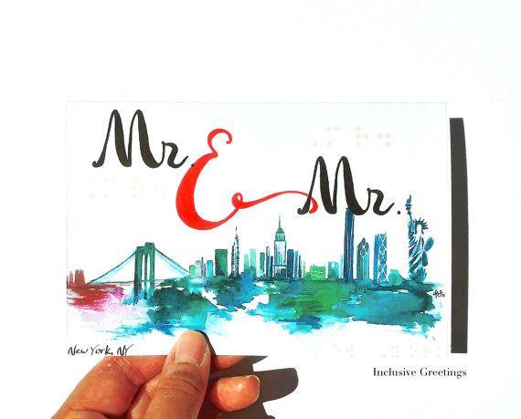 New York Cityscape Mr.Mrs/Mr.Mr/Mrs.Mrs/ by InclusiveGreetings