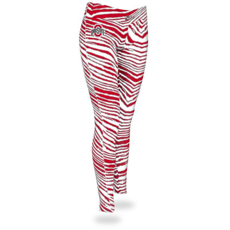 Ohio State Buckeyes Zubaz Women S Leggings Scarlet Products Women S Leggings Leggings Red Leggings