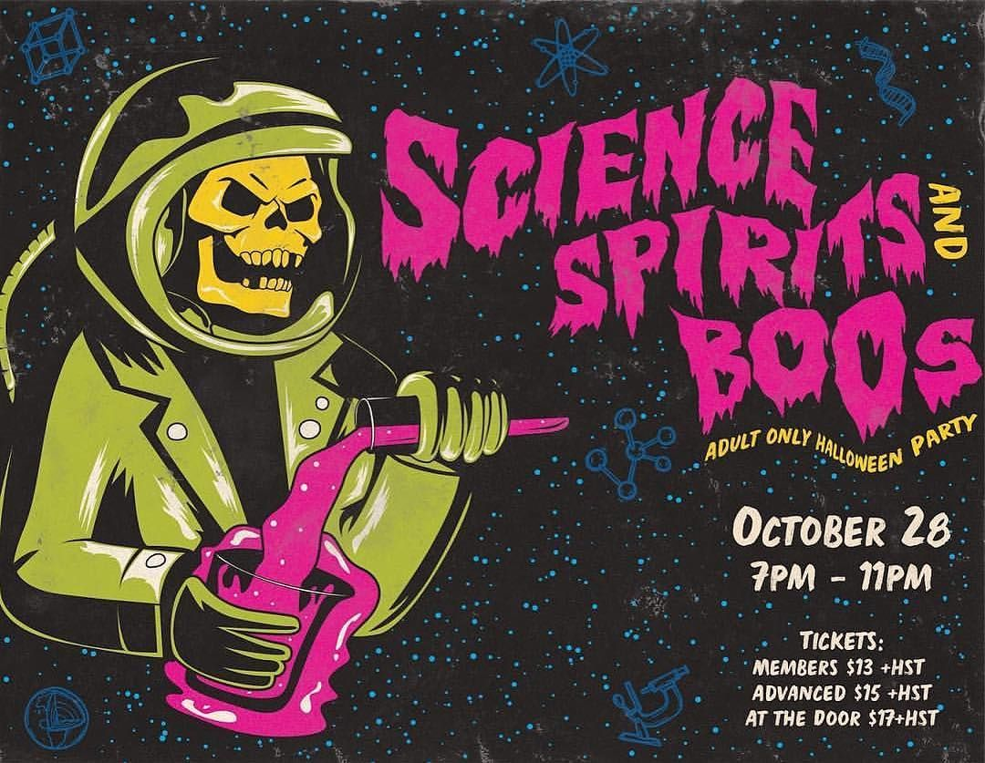 tonight (sat) from @thediscoverycentre our science spirits & boos
