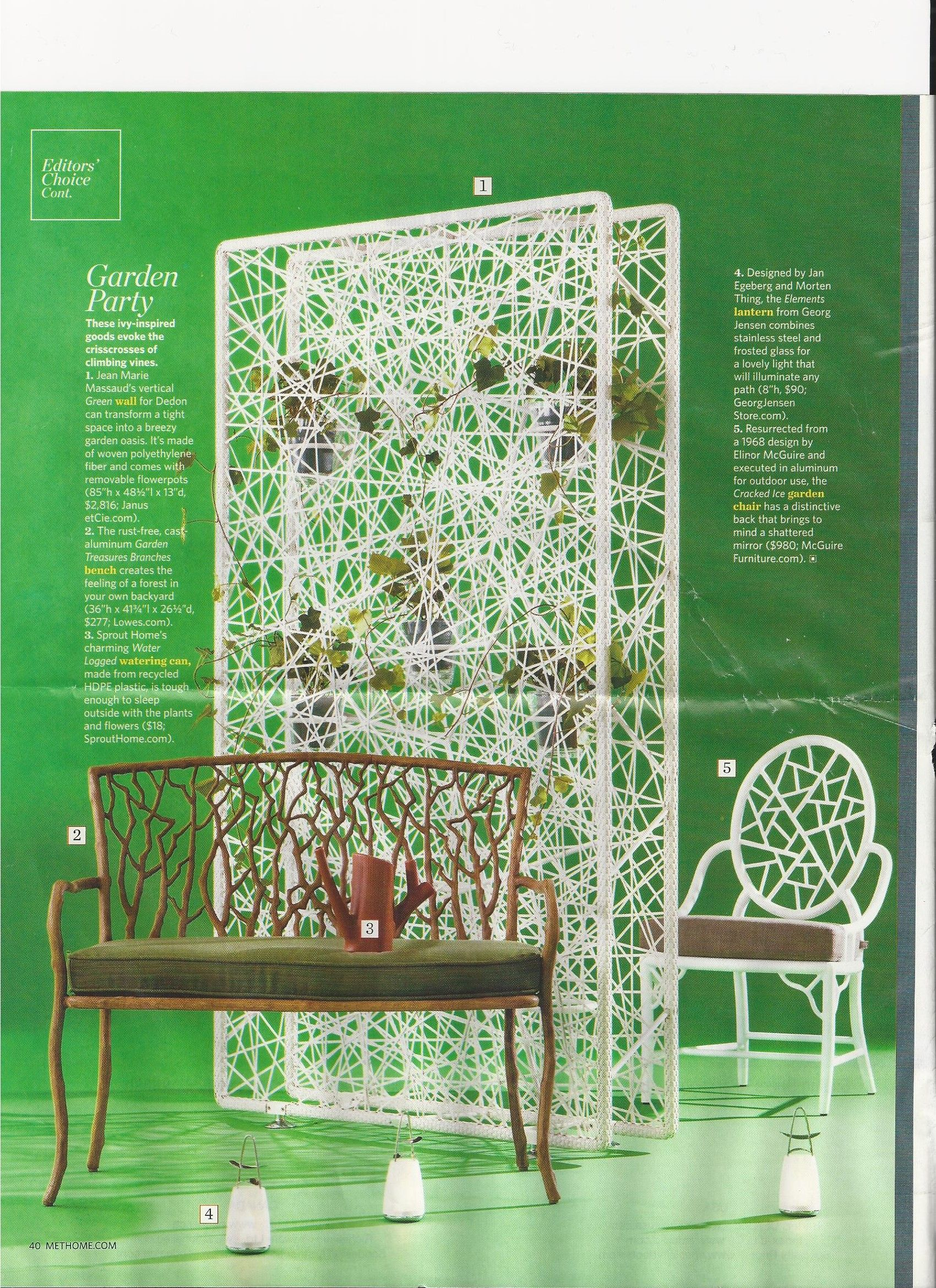 Wicker may be too granny style, look at these for a cool porch!