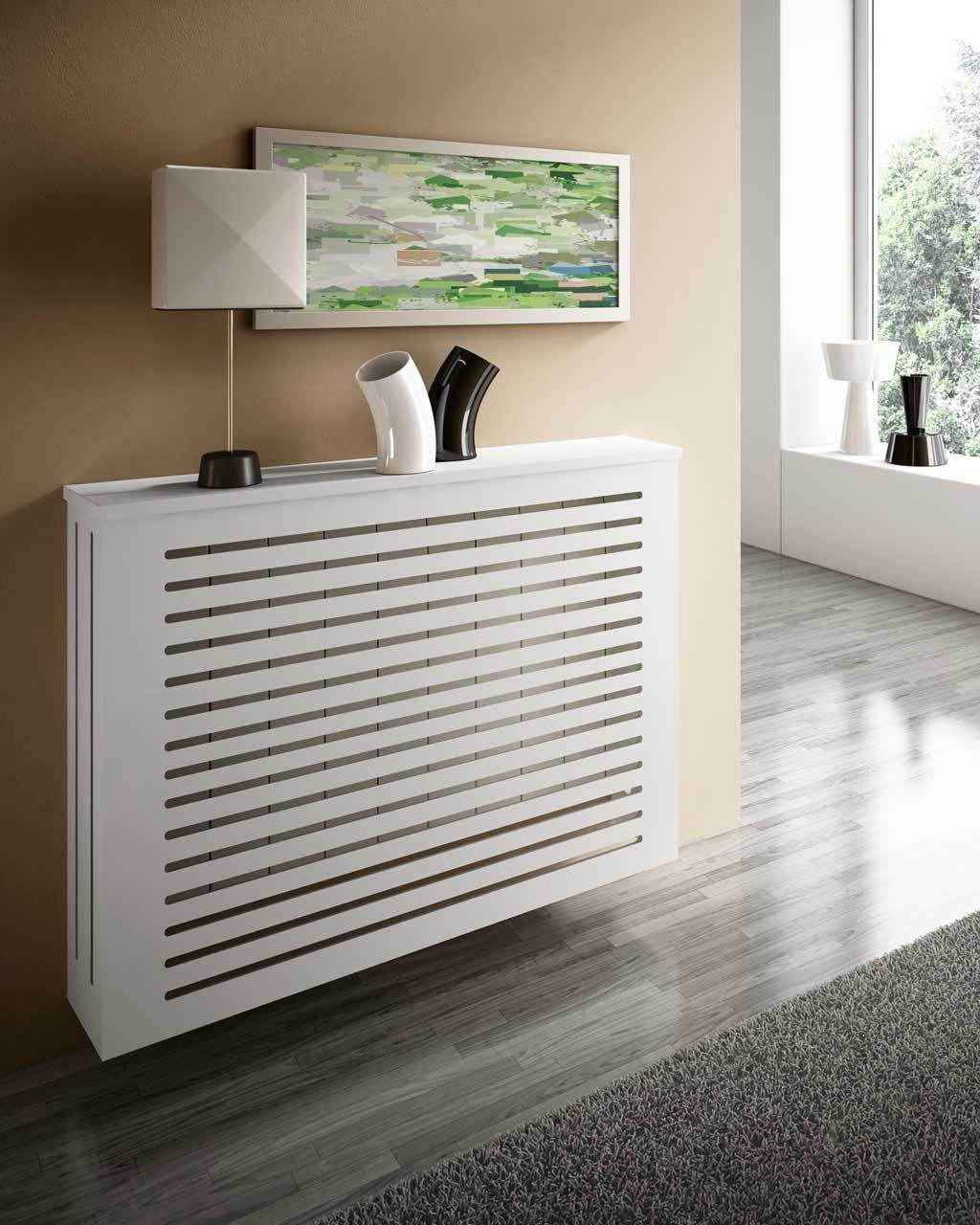 Cubreradiador ayora blanco ideas para ocultar - Muebles para cubrir radiadores ...