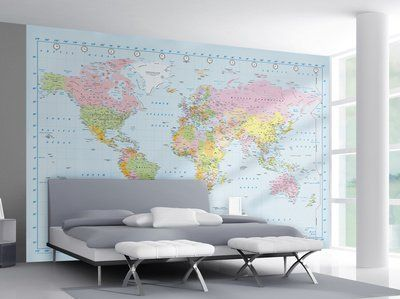 World map wallpaper mural 315x232 httpamazondp world map wallpaper mural 315x232 httpamazon gumiabroncs Choice Image