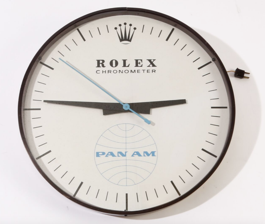 Vintage Rolex Pan Am Collectible Wall Clock Pan American Airlines Holy Grail Clock Clocks For Sale Wall Clock