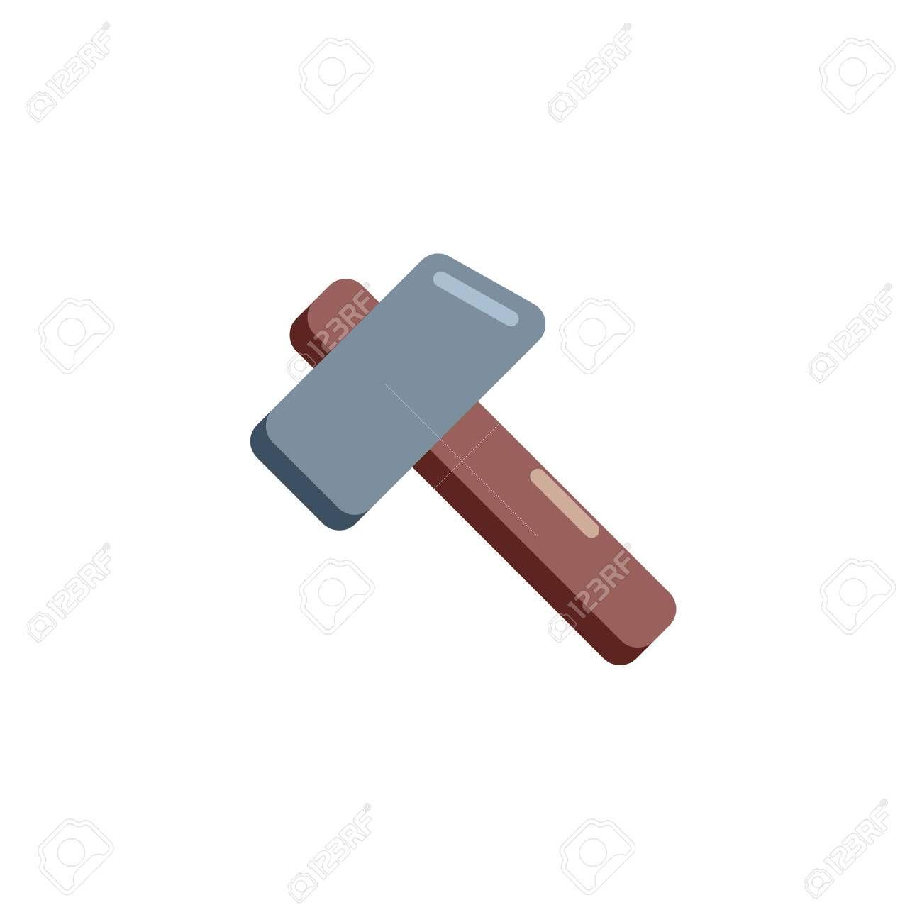 Gaming Hammer flat icon, vector sign, colorful pictogram isolated on white. Magic hammer symbol, logo illustration. Flat style design , #SPONSORED, #colorful, #sign, #isolated, #pictogram, #vector