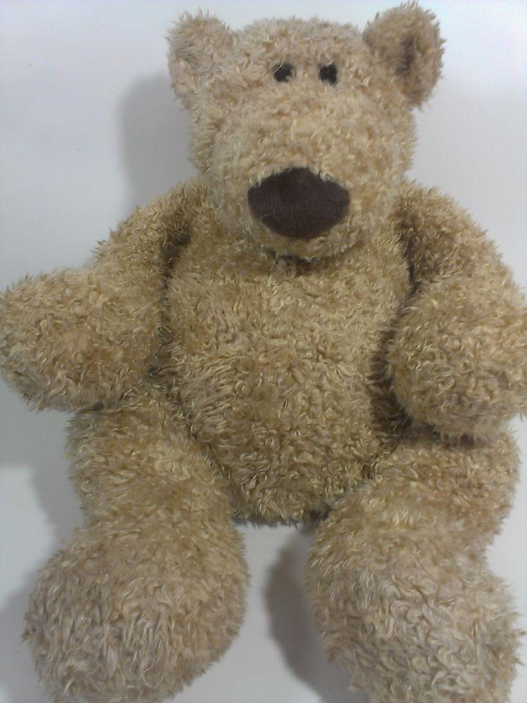 Gund Schlepp Teddy Bear Plush Brown Pot Belly Bean Bag