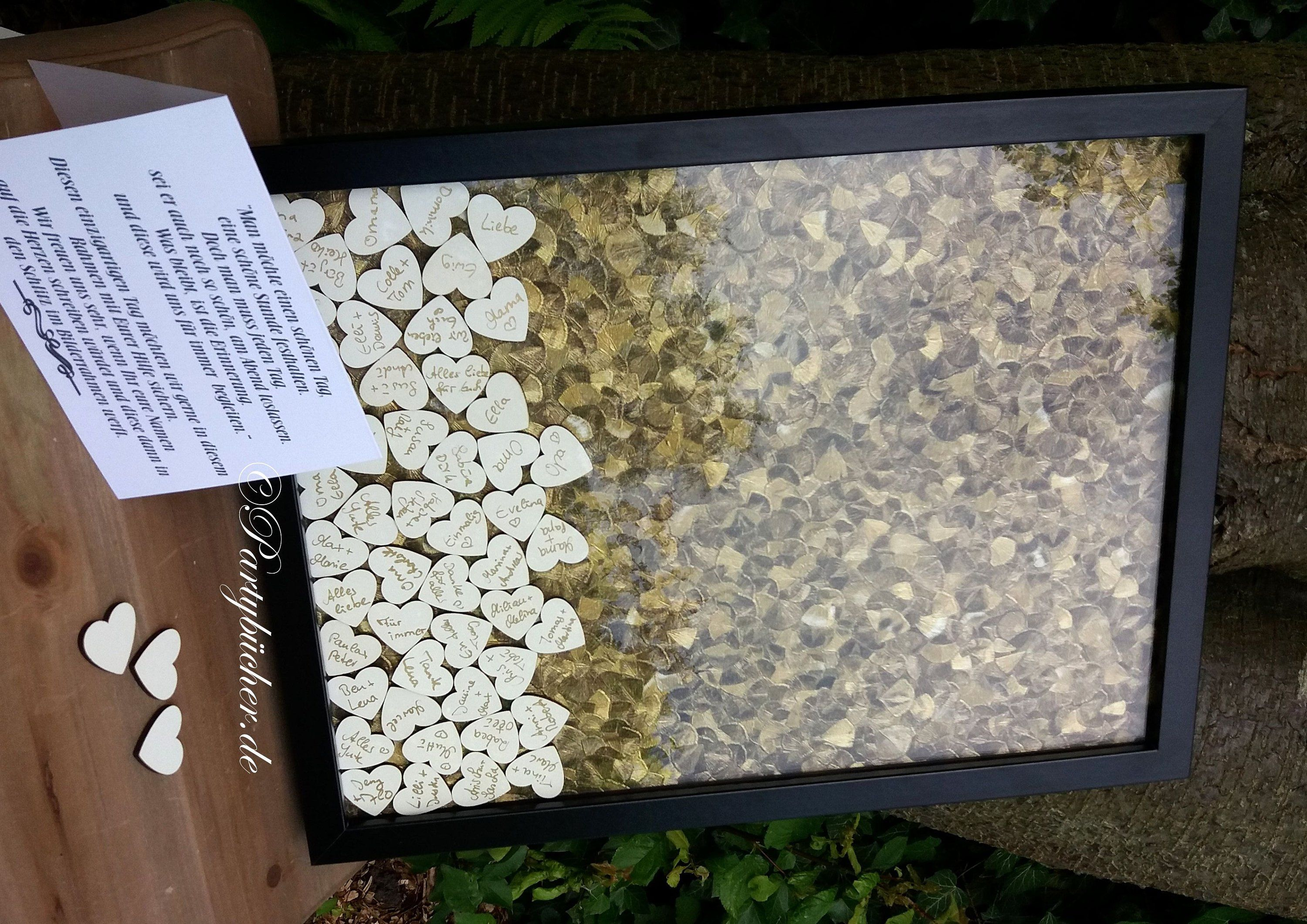Wooden Heart guestbook With throw-in, XL wedding guestbook picture ...
