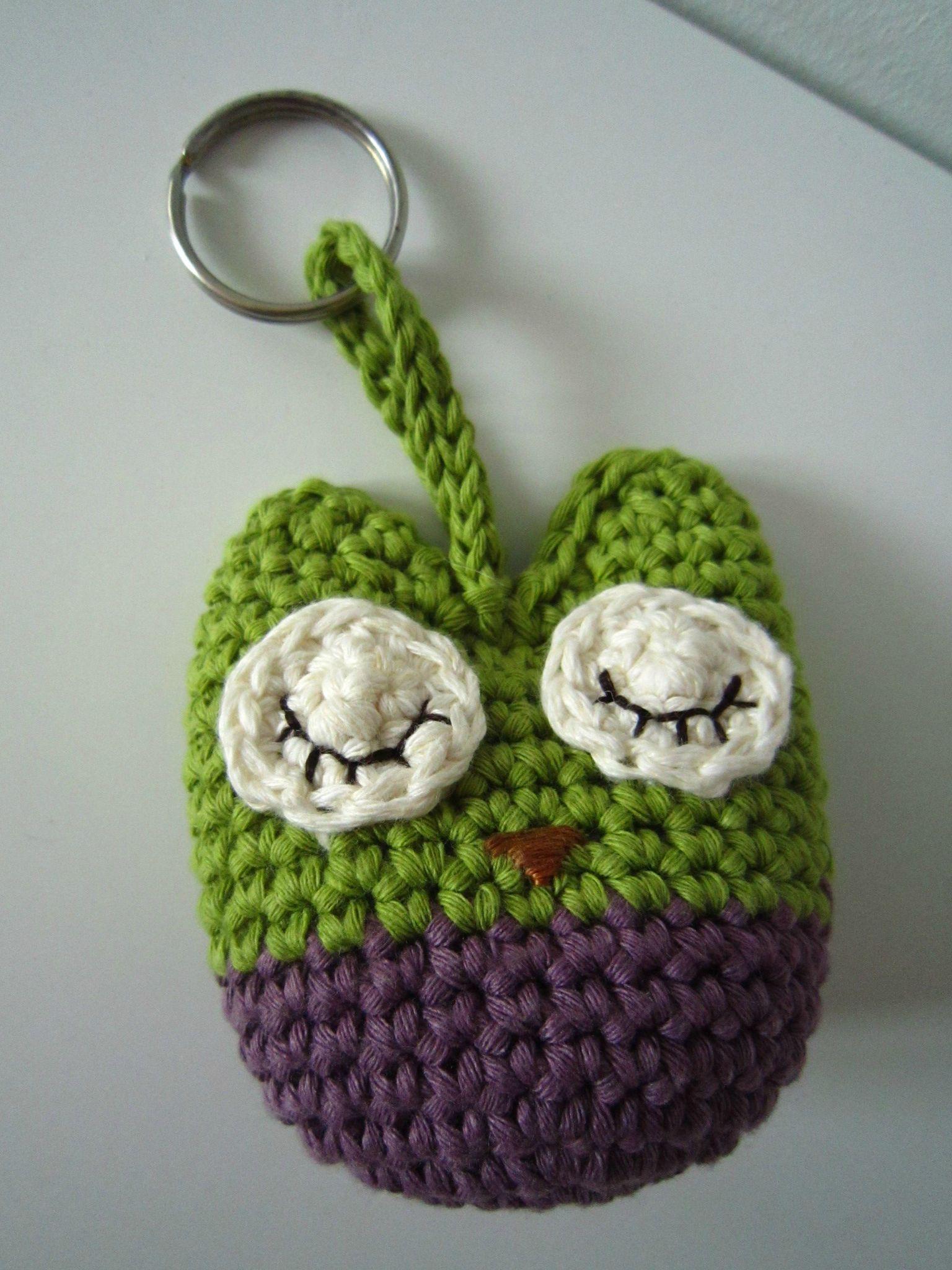 Porteclé Chouette Crochet Pinterest Porte Clef Crochet And Clef - Porte clé chouette