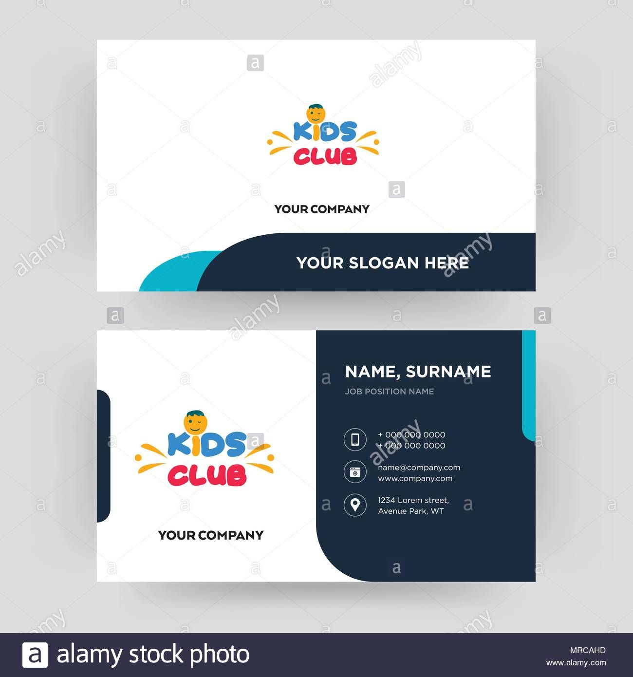 Kids Club Business Card Design Template Visiting For Your Within Id Card Template For Kid Business Card Template Design Id Card Template Business Card Design