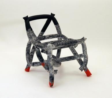 Chair by Silo Studio 3 #unique #material #fabric #mould #odd #shape #design