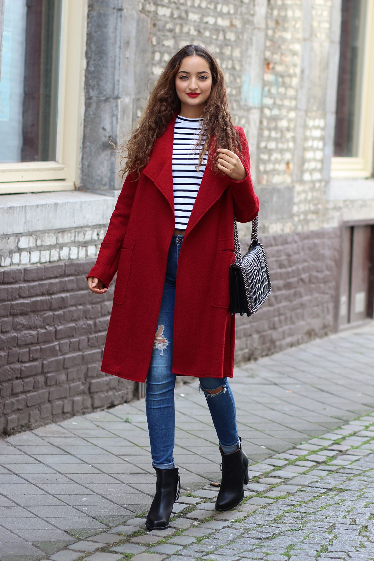 Roter Mantel Blogger Fashion Outfits Red Coat Outfit Und Coat