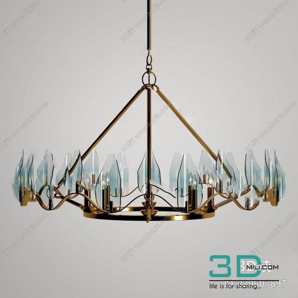 426  Ceiling light 3dmodel Free Download - 3D Mili - Download 3D